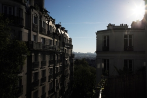 The view from our balcony in Montemartre!