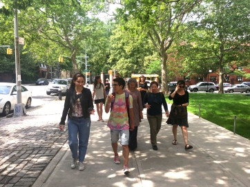 group trip to the opening of the new ICP museum in Manhattan